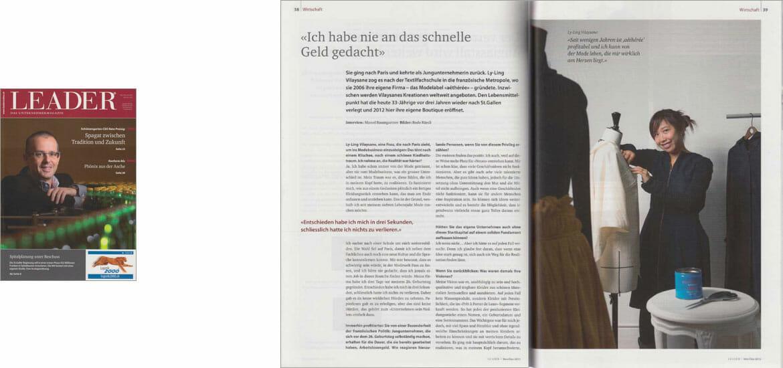 Pressebericht im Magazin Leader