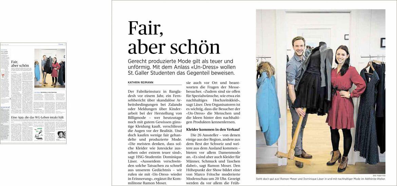 Fair, aber schön - Tagblatt April 2014